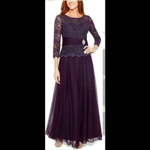 Jackie Jon Designer Formal Dress in Grape